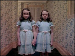 Delbert Grady's twins. He slaughtered them later on.