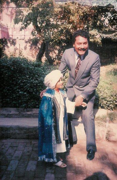 Sir Khurshid Alam Gill with his son, Shakir.